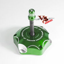 Apico Anodised Fuel Cap inc Vent Pipe KAWASAKI KX85 14-17, KX250 05-08 GREEN
