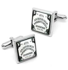 Gothic Bats Ouija Spirit Board Sterling Silver Glass Horror Cufflink Set w/ Box