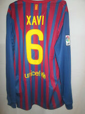 Barcelona 2011-2012 Xavi 6 Home Football Shirt Long Sleeves BNWT Size Large /sh