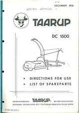 TAARUP TIGER 404 FORAGER OPERATORS MANUAL & PARTS LIST -GTC5C **ORIGINAL**