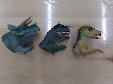 Lot of 3 Jurassic Park Finger Puppets Action Figure Finger Toy ~ Dinosaurs