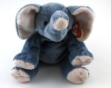WINKS TY Pluffies Blue Elephant with Pink Ears Feet Nose Tylux Baby Soft w/ Tags