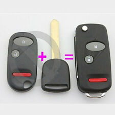 New Keyless Flip Remote Uncut Smart KEY FOB Case Shell for Honda Accord 2B+Panic