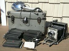 Graflex Crown Graphic 4X5 Press Camera With Case & Accessories Good Condition