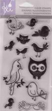 KI HAMPTON ART Clear Stamps FOR THE BIRDS WHIMSICAL BIRDS Owl Chick Parrot Baby