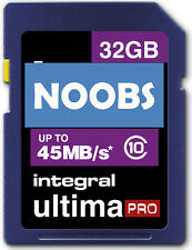 32GB CLASS 10 SD CARD with NOOBS for Raspberry Pi  For Model A&B 45mb/s