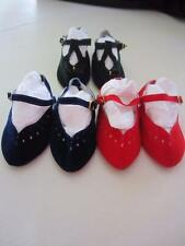 3 PAIR NAVY, Dk GREEN & RED Suede SHOES Fits Charmin Chatty FREE SHIPPING