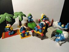 Schleich Peyo - Smurfs Playset, Figure and Accessory Lot - 1990's/2000's Smurfs