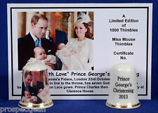 To Sir With Love Prince George's Christening 2013 Ltd.Ed Thimble+ Cert- B/123
