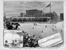 CHICAGO BASEBALL GROUNDS IN 1883 GRANDSTANDS PRESIDENT SPALDING IN PRIVATE BOX