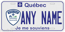 Montreal Quebec Police Any Name Personalized Novelty Car License Plate