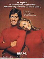 PUBLICITE ADVERTISING 095 1971 Rasurel les cols roulés pour l'homme et la femme
