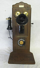 Reproduction Kellogg Switchboard Hanging Wooden Wall Telephone&Writing Shelf yqz