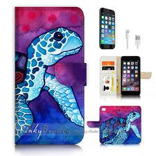 iPhone 7 PLUS (5.5') Flip Wallet Case Cover P3222 Turtle