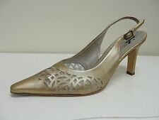 Peter Kaiser Topeka gold leather slingbacks, UK 5/EU 38, RRP £89.99, BNWB