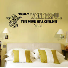 YODA STAR WARS vinyl wall artwork room sticker decal  Lettering Kids Decor