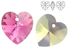 SWAROVSKI ELEMENTS 6228 Heart Crystal Pendants Many Colors & Sizes