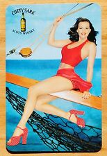 ADVERTISING- PU LADY - CUTTY SARK SCOTS WHISKY- SINGLE SWAP PLAYING CARDS