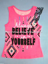 63% OFF! AUTH JUSTICE GIRLS POSITIVE TANK TOP SIZE 8 / 4-6 yrs BNEW US$ 14.99+