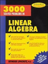 3000 Solved Problems in Linear Algebra by Seymour Lipschutz (1989, Paperback)