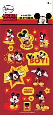 MICKEY MOUSE Party Stickers (6 Sheets) - Loot Bag Fillers