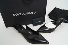 NWT Dolce&Gabbana Formal Black Women's Shoes Dolce Gabana Leather Size - 39 1/2