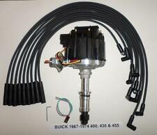BUICK Big Block 400 430 455 Black Cap HEI DISTRIBUTOR & Black Spark Plug Wires