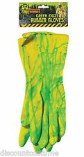 BIOHAZARD ZOMBIE GREEN OOZE RUBBER GLOVES COSTUME ACCESSORY FUN HALLOWEEN-NEW