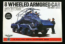 BANDAI 8 Wheeled Armored Car Kit 8238-300 1/48 Scale w/ 3 soldiers JAPAN - NOS
