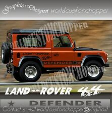 KIT ADESIVI STICKERS FUORISTRADA LAND ROVER DEFENDER 4X4 OFF ROAD JEEP