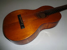 1890's Joseph Bohmann Parlor Acoustic Guitar   Flamed Maple  w/Pin Bridge