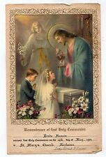 1963 HOLY COMMUNION PRINT Fairhaven Massachusetts ST MARY'S CHURCH Linda Francis