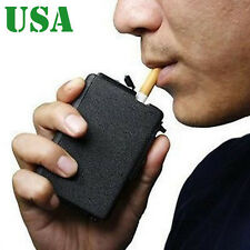 Cool Cigarette Case &Lighter Automatic Ejection Butane Windproof Box Holder Gift