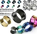 1x Double Flare Flesh Tunnel Steel Titanium Anodised Ear Plug Expander Stretcher