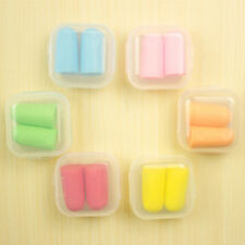 Soft Comfortable Foam Ear Plugs Anti Noise Snore For Study Travel Sleep 5 pairs