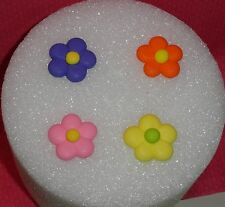 Flowers,,Royal Icing,Edible Cupcake Topper,DecoPac,Multi-Color,Flower Power