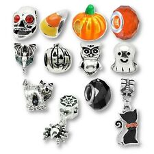 Beads and Charms for European Charm Bracelets Black Cat Owl Halloween Party