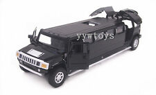 Hummer H6 Extended Diecast Sound Light Pullback Model Toy Car Vehicle Black New