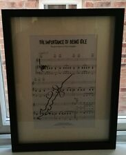 "OASIS Music Sheet ""The Importance of Being Idle"" SIGNED AUTOGRAPH LIAM NOEL COA"