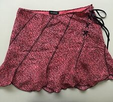 BeBe Skirt Womens size Medium Pink and Black Colors Bow