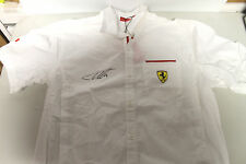 FERNANDO ALONSO HAND SIGNED FERRARI SHIRT UNFRAMED + PHOTO PROOF & C.O.A
