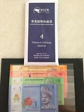 (JC) PCCB Banknote Sleeve No 4 (70mm x 160mm @ 50 pcs per pack)