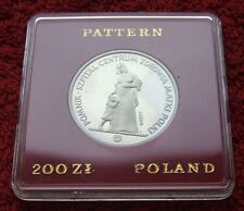 POLAND COIN 200 ZLOTYCH MOTHER'S MEMORIAL HOSPITAL MONUMENT 1985 YEAR ATTEMPT