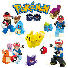 Pokemon Go Character 4pcs Minifigures Minifigs Building Blocks Toy Kids Gift