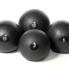 FULL SET OF 4 GYM SLAM BALLS WORKOUT/MMA/BOXING/CORE/AB NO BOUNCE RUBBER BALL