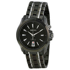 Seiko Perpetual Calender Black Dial Two-Tone Stainelss Steel Mens Watch SNQ121
