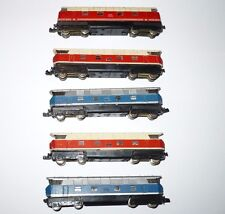 Piko N scale diesel locomotive set of 5 for repair parts HOe Tram  Loco projects