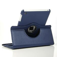 NAVY BLUE  360° Rotating iPad MINI SMART PU Leather  Case + 2Sp