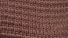 WEMBLEY VINTAGE CHOCOLATE BROWN KNIT PLAIN NECKTIE TIE MAP3016B #R26