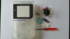 CARCASA COMPLETA+PANTALLA COMPATIBLE GAME BOY CLASSIC CLEAR NEW/NUEVO
